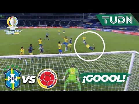 ¡De chilena! MEGA GOLAZO de Luis Díaz | Brasil 0-1 Colombia | Copa América 2021 | Grupo B-J4 | TUDN