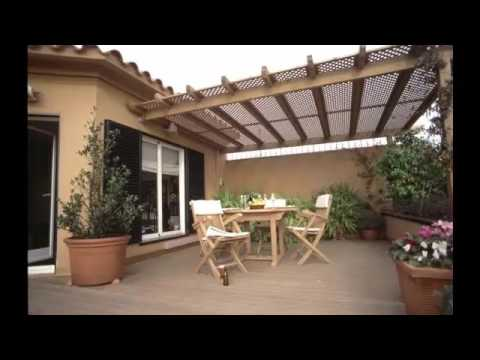 pergolas para patios interiores - YouTube
