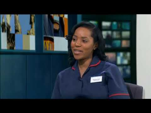 Memuna Sowe, of Croydon Health Services, on ITV London about being Britain's 'Midwife Of The Year'