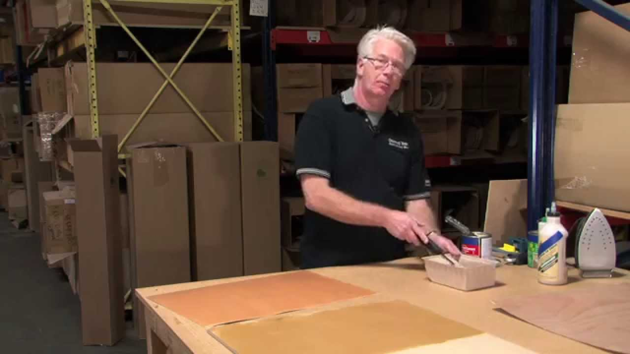 Webisode 6 How To Apply Wood Veneer To Mdf Using Contact