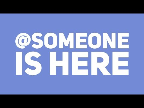 Discord now has @someone