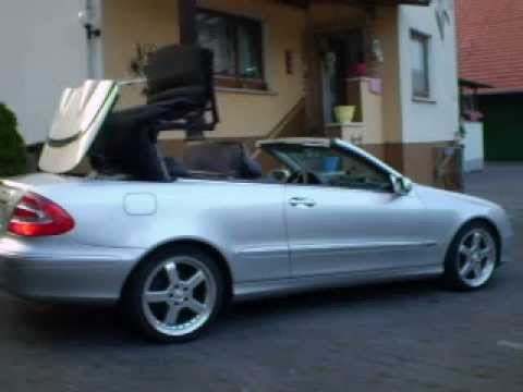 mercedes clk 320 cabrio e dach w209 mit gas youtube. Black Bedroom Furniture Sets. Home Design Ideas