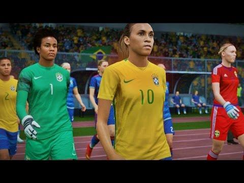FIFA 16 | Brazil - Sweden | Women's National - Gameplay 1080p Full Game