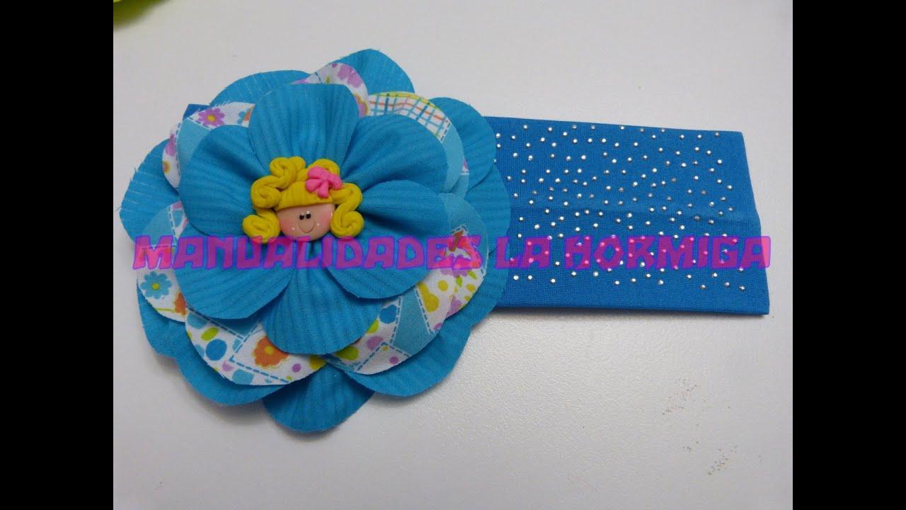 Como hacer flores f ciles en tela diy 341 hair flowers - Como hacer cuadros de tela ...