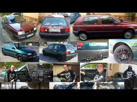 VW Golf 3 Europe 1,6L 75 PS Benzin 1994 in Rot und in Grün Justus König sein erstes Auto Volkswagen