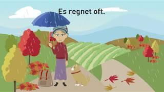 Deutsch lernen mit Dialogen / Lektion 14 / Wetter und Klima / Deutschland, Schweiz, Österreich