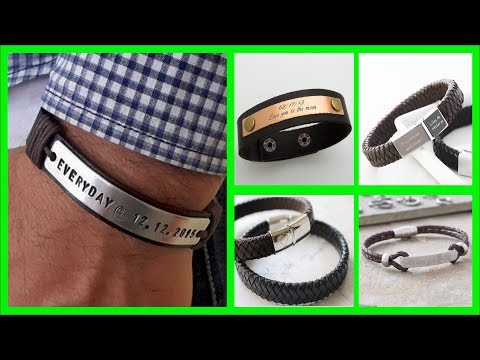 TOP 40 DIY Mens Bracelets Engraved | Personalized Bracelets | Mens Engraved Bracelets Leather