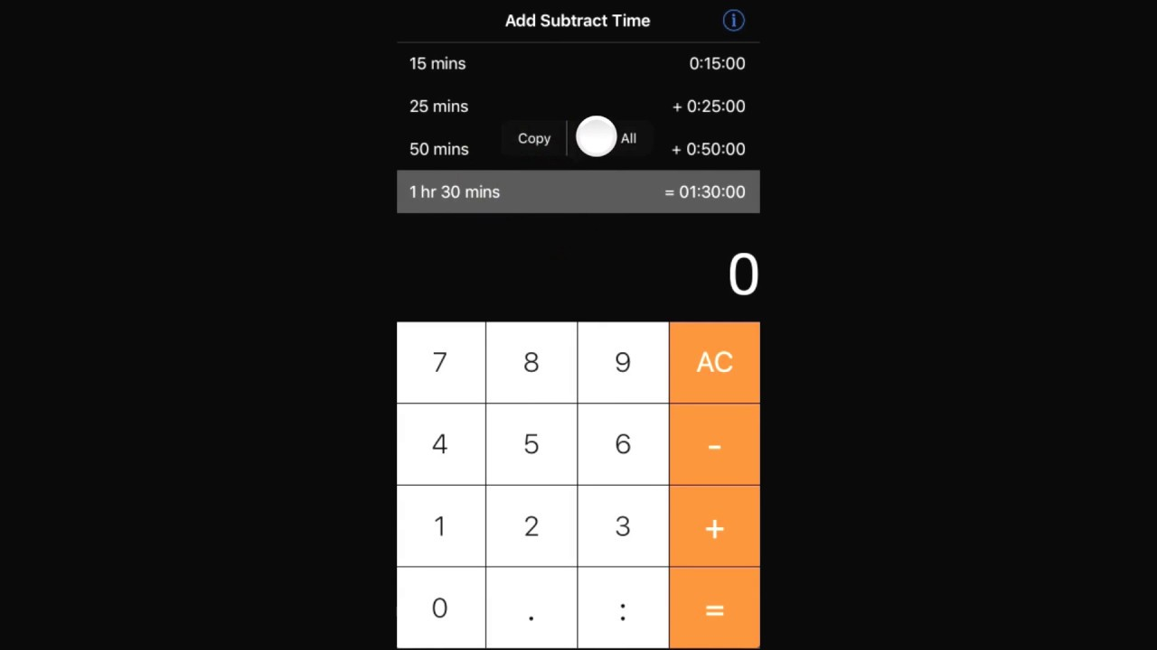Time Calculator For Pilots - Copy To Clipboard