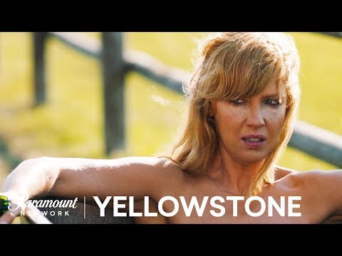 Beth Bathes in the Trough | Yellowstone Season 1 | Paramount Network