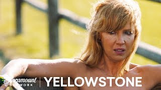 Beth Bathes in the Trough  Yellowstone Season 1  Paramount Network
