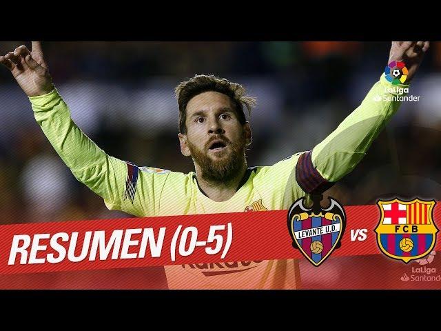 Resumen de Levante UD vs FC Barcelona (0-5)