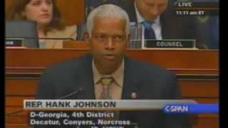 O&A - Congressman Hank Johnson is a dumb motherfucker. 1/2