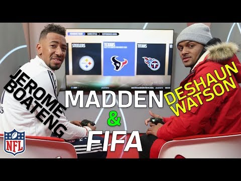 Deshaun Watson vs. Jerome Boateng in Madden and FIFA | NFL Highlights