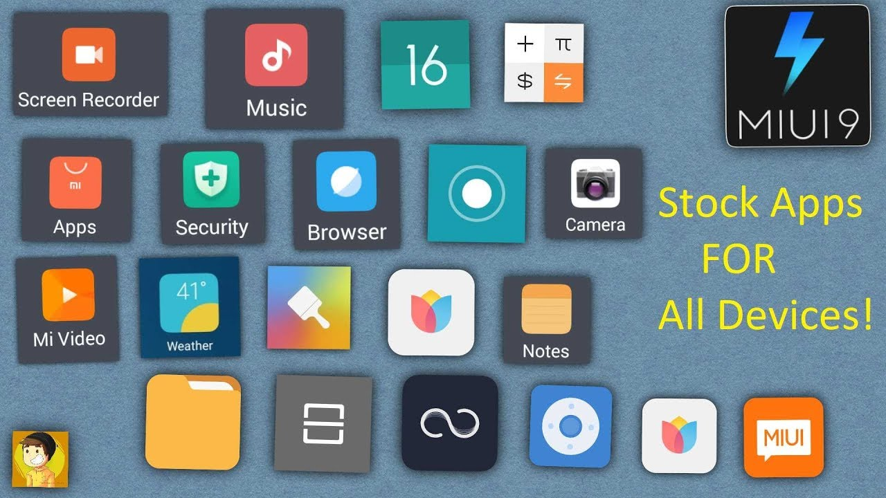 MIUI 9 Stock Apps Collections For All Devices | English Version