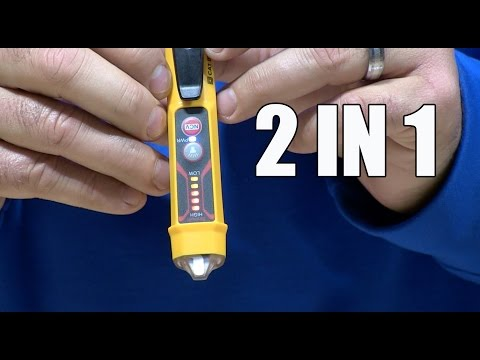 Klein Tools' NCVT-3 Non-Contact Voltage Tester with Flashlight