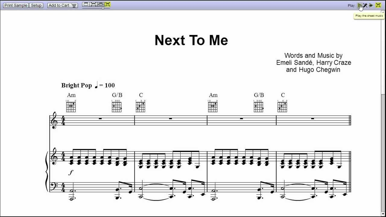 next to me piano sheet music teaser youtube. Black Bedroom Furniture Sets. Home Design Ideas