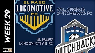 El Paso Locomotive FC Vs. Colorado Springs Switchbacks FC September 21 2019