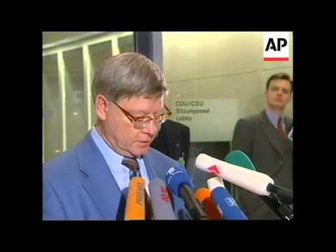 GERMANY: BERLIN: SUICIDE OF C-D-U'S SENIOR ACCOUNTANT