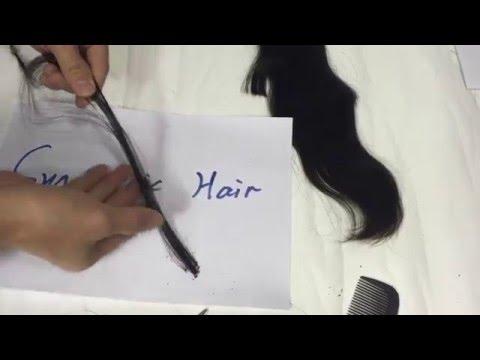 Burn Test: Synthetic Hair VS 100% Human Hair VS Elfin Hair Weave