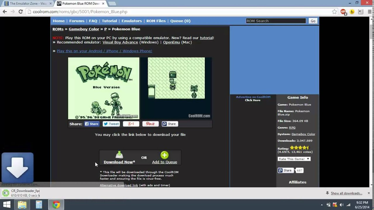 How to get gbc game boy color emulator rom on pc windows 8 updated rom youtube
