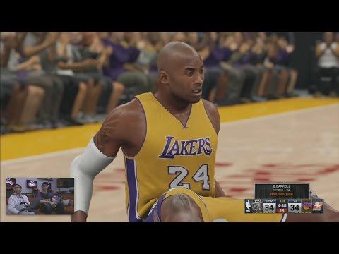 NBA 2K16 Full 4 Quarters Gameplay 5v5 Lakers vs Raptors