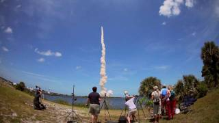 STS-132 - Extremely Loud Shuttle Launch from the Kennedy Space Center press site. (in HD)