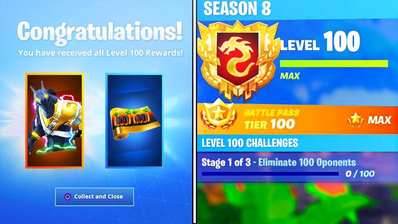 The New Level 100 Rewards In Season 8 Secret Rewards Unlocked In