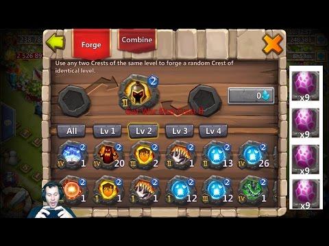 Forging Level 3 Crest Sets For Psysheild + EGG Hatch-A-Thon Event Castle Clash