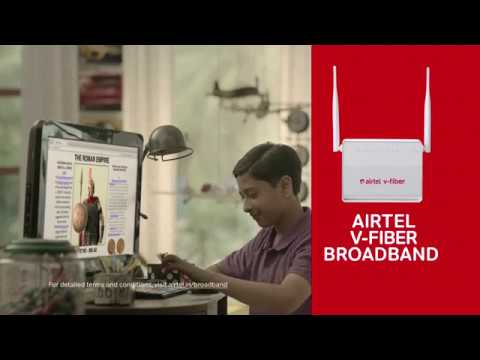 Airtel V-Fiber | No Wi-Fi, No Padhai. Get Airtel broadband.