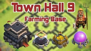 Clash Of Clans - #1 BEST Town Hall 9 Farming Base WITH Replays!