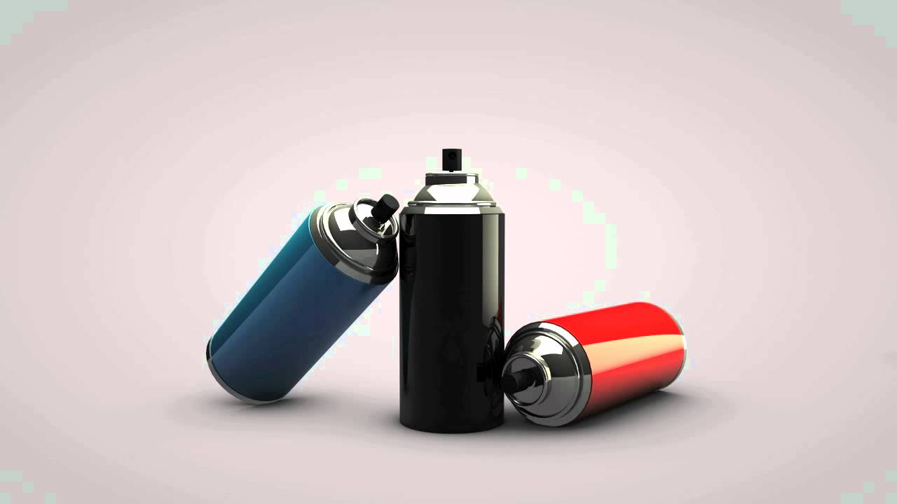 Free Spray Paint Can Model Cinema 4d Youtube