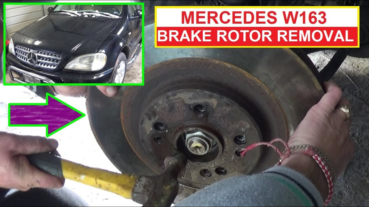 Front disc brake rotor removal and replacement on mercedes for Mercedes benz rotors replacement