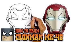 How to Draw Iron Man | MK-46 Helmet Tutorial
