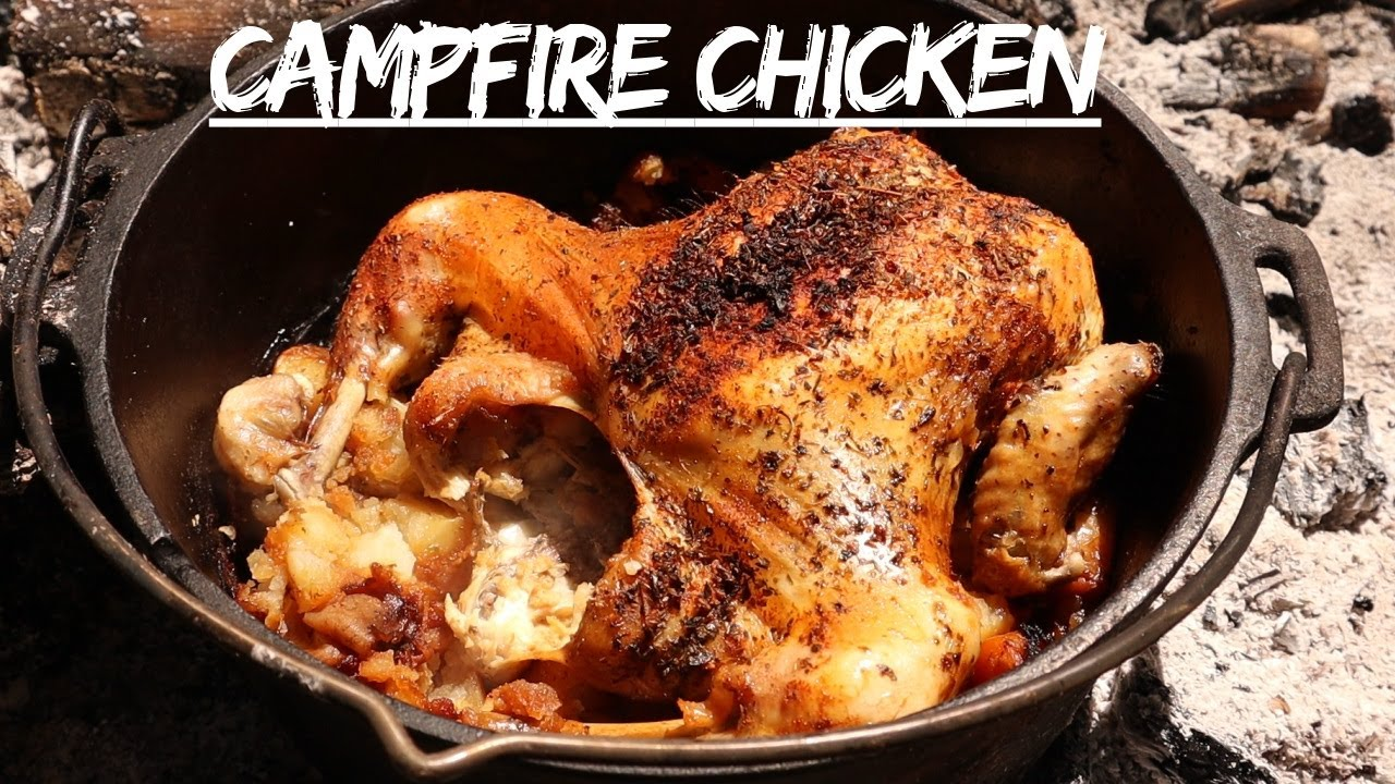 Simple Campfire Cooking - Roast Chicken In A Dutch Oven - At the Bushcraft Camp - With TAOutdoors