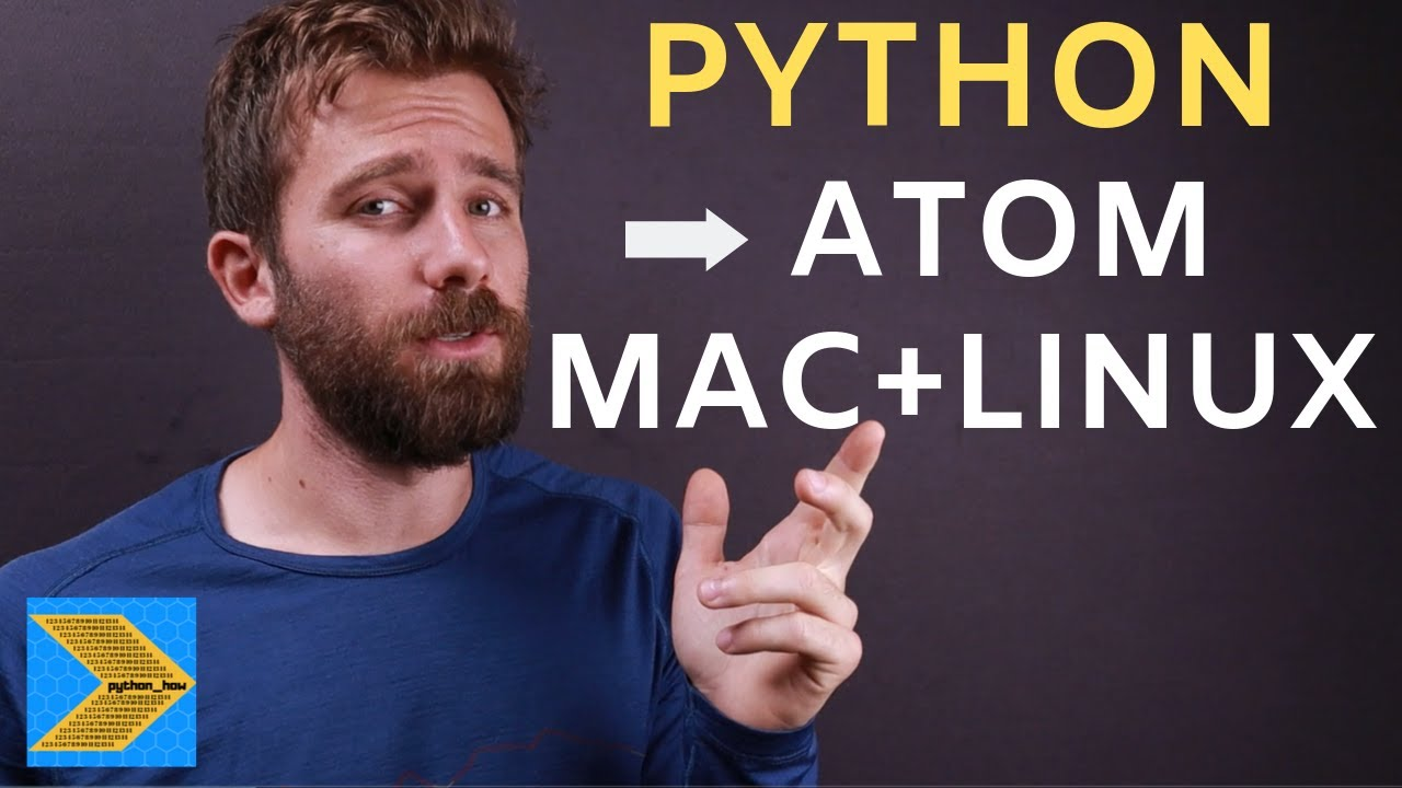 How to set up Atom text editor on Mac for Python