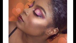 Smokey Eye Pink Purple Makeup
