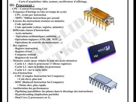 Architecture d'un poste Informatique (KHALID KATKOUT)