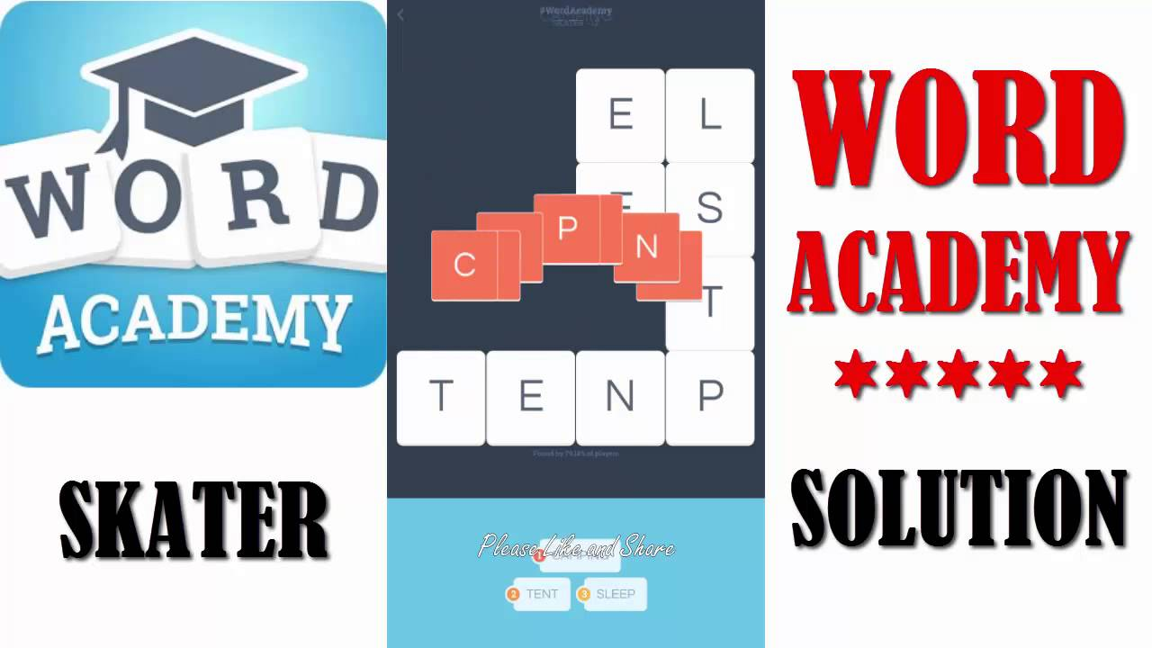Pics words solution niveau 1 - Word Academy Skater All Solution Walkthrough By Scimob