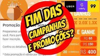 Entenda o FIM das CAMPANHAS Uber 99 Pop Cabify