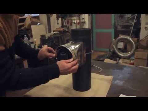 Montáž regulátoru komínového tahu s upínací páskou