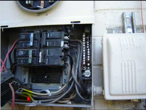 electrical wiring breaker jumpers youtube rh youtube com Electric Meter Bypass Jumpers Bonding Jumper