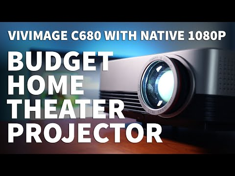 Budget Home Theater Projector Review - Vivimage C680 1080P Projector Setup For Movies And Gaming