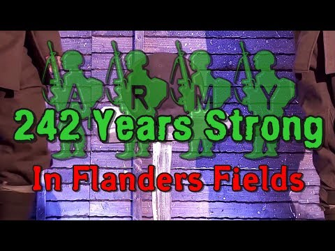 "ARMY STRONG: 7-15-17. U.S. Marines Perform ""In Flanders Fields"" At 242nd Birthday Ball."