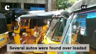 Hyderabad Traffic Police conduct special drive against auto drivers