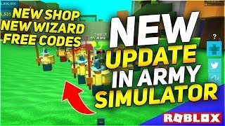 ALLE CODES💎NEW WIZARD UPDATE🔥in Army Control Simulator (ROBLOX) mit TIPS AND TRICKS
