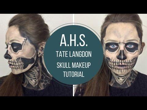 Skull Makeup Tutorial - American Horror Story Tate