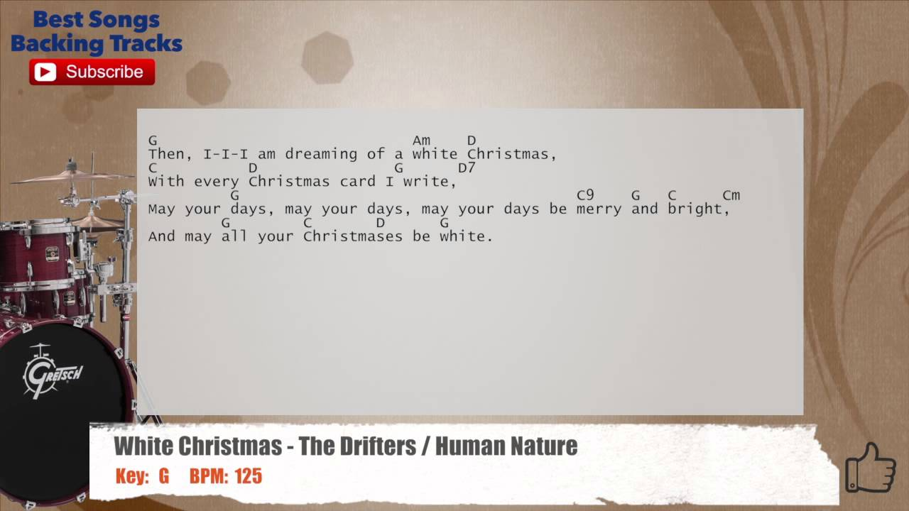 White Christmas - The Drifters / Human Nature Drums Backing Track ...
