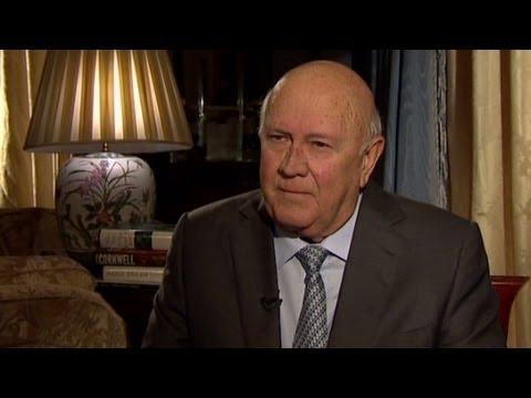 """F.W. de Klerk: Thatcher """"consistent critic of apartheid"""""""