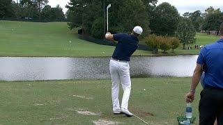 Jordan Spieth skips shots across lake at TOUR Championship