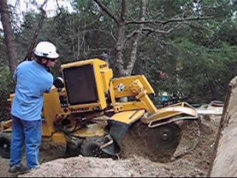 vermeer 352 stumpgrinder operation youtube rh youtube com